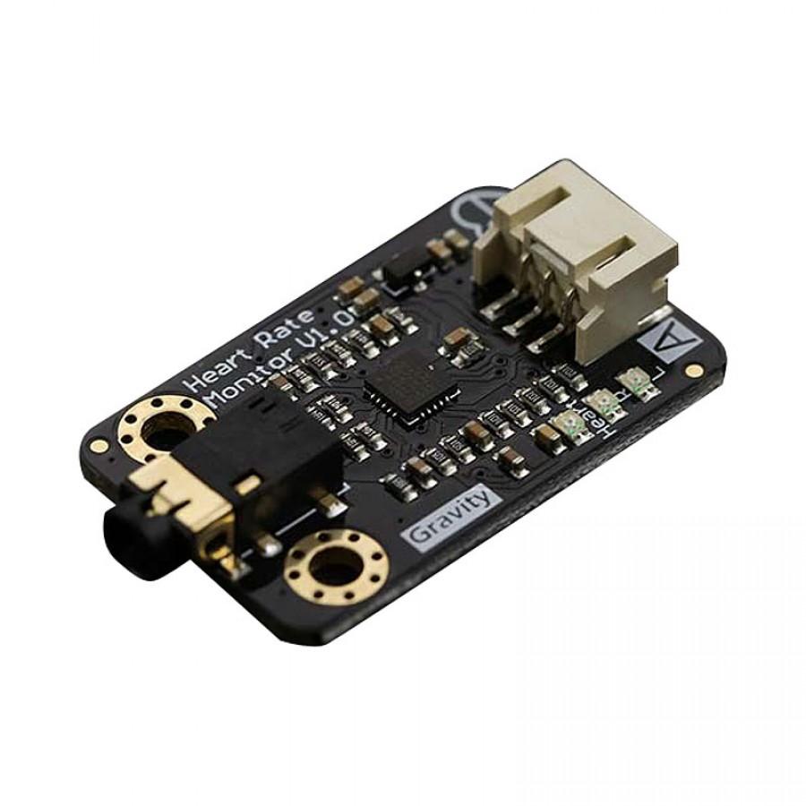 Gravity Analog Heart Rate Monitor Sensor Ecg For Arduino Schematic Sen0213