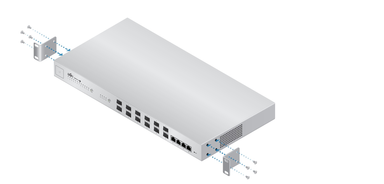 Ubiquiti UniFi Switch, US-16-XG, 12xSFP+, 4x10G RJ45