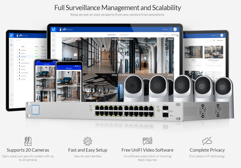 Ubiquiti UVC-G3-FLEX, UniFi Video Camera G3 FLEX, 1080p, IR Led,  Microphone, 4mm/F2 0, 802 3af PoE