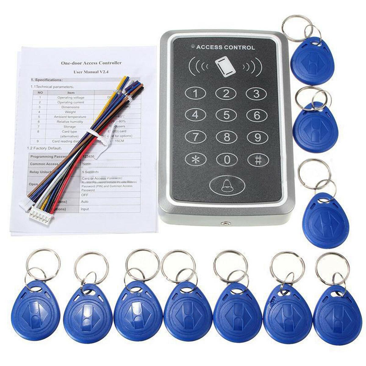 Access Control (RFID/Keypad) System with 10 Keyfob