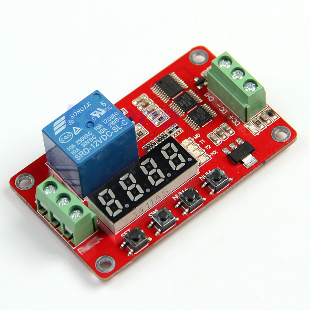 12V Relay Module with Cycle Timer for Delay - Arduino Compatible