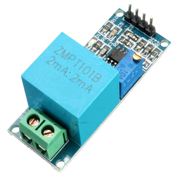 2mA Single Phase Voltage Sensor - AC Voltage Transformer Active Module for  Arduino (ZMPT101B)
