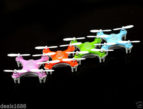 Cheerson CX-10 Mini 2.4Ghz 4CH 6-Axis GYRO Nano RTF LED RC Quadcopter UFO Drone (Blue,Orange,Pink,Green)